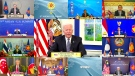 In this image released by Brunei ASEAN Summit, United States President Joe Biden speaks in the virtual meeting of Association of Southeast Asian Nations (ASEAN) summit with the leaders members states on Tuesday, Oct. 26, 2021. (Brunei ASEAN Summit via AP)