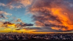 Viewer Tony captured colourful clouds during sunset over downtown Calgary.