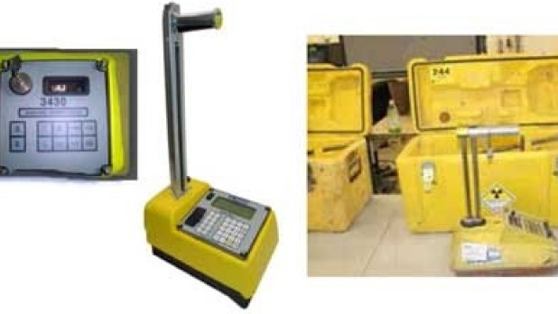 A Troxler 3430 moisture density gauge is seen in this photo. (Supplied by LPS)