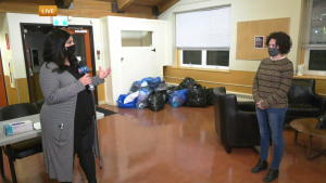 Scarlet Bjornson explains what items the Bissell Centre and the Bent Arrow Traditional Healing Society want to collect.