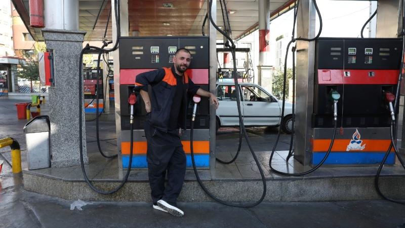 At a gas station in Tehran, Iran, on Oct. 26, 2021. (Vahid Salemi / AP)