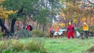 Ground search and rescue crews search for a missing 10-year-old boy in North Preston, N.S. on Wednesday, Oct. 27, 2021. The boy was found later Wednesday night. THE CANADIAN PRESS/Andrew Vaughan