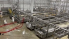 Cheese production at the St-Albert Cheese Co-op. Oct. 26, 2021. St-Albert, Ont. (Tyler Fleming / CTV News)