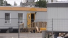 Temporary buildings used to shelter the homeless in London, Ont. are seen in this file photo. (Daryl Newcombe / CTV News)