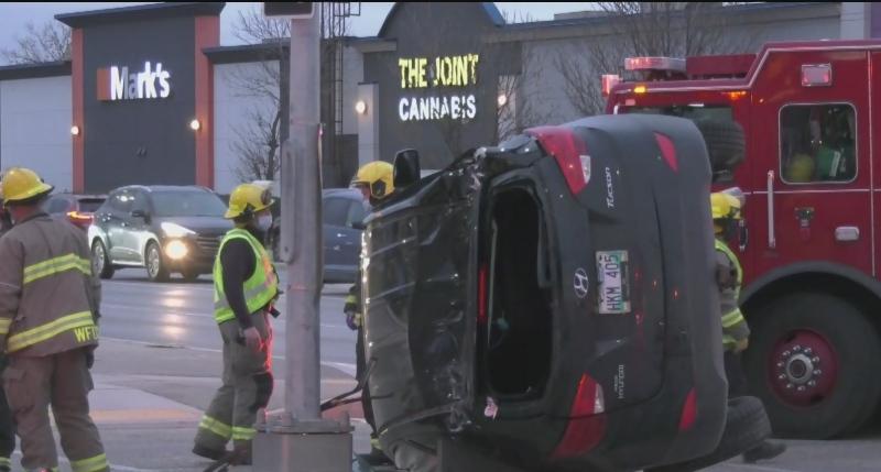 Three hospitalized following morning crash
