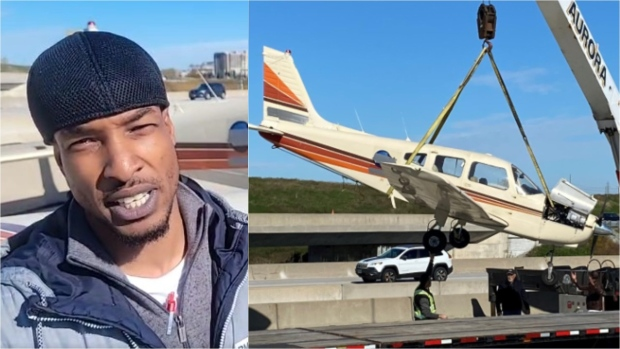 The plane lands on Highway 407: Pilot says he had no other option after engine failure