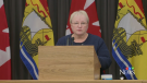 New Brunswick Health Minister Dorothy Shephard gives an update on the unknown neurological syndrome that has led to eight deaths in the province on Oct. 27, 2021.