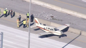 Plane forced to make emergency landing on Hwy 407