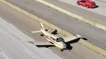 Emergency landing on 407
