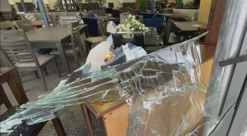 Driver crashes through window of Burnaby business