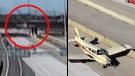 WATCH: Plane lands on busy Ontario highway
