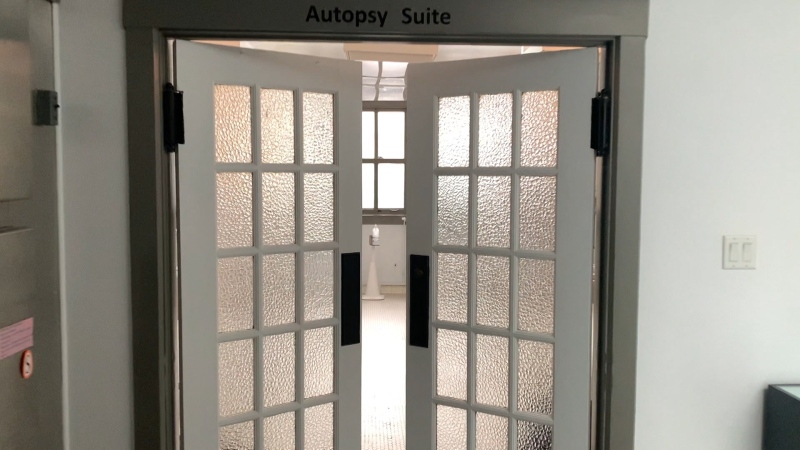 Autopsy suite at the Vancouver Police Museum.