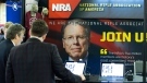 People at the NRA booth during Conservative Political Action Conference, CPAC 2020, at the National Harbor, in Oxon Hill, Md., Feb. 27, 2020. (Jose Luis Magana / AP)