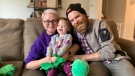 Alana and Devon Farrant with their two-year-old daughter, Parker. Oct. 27, 2021. (Reta Ismail / CTV London)