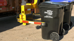 The County of Simcoe rolls out a new waste cart system. Wed., Oct. 27, 2021 (Kraig Krause/CTV News)