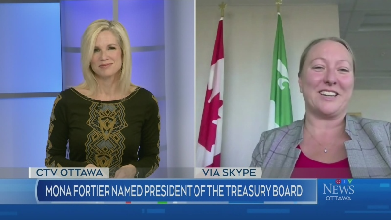 Mona Fortier becomes Treasury Board President