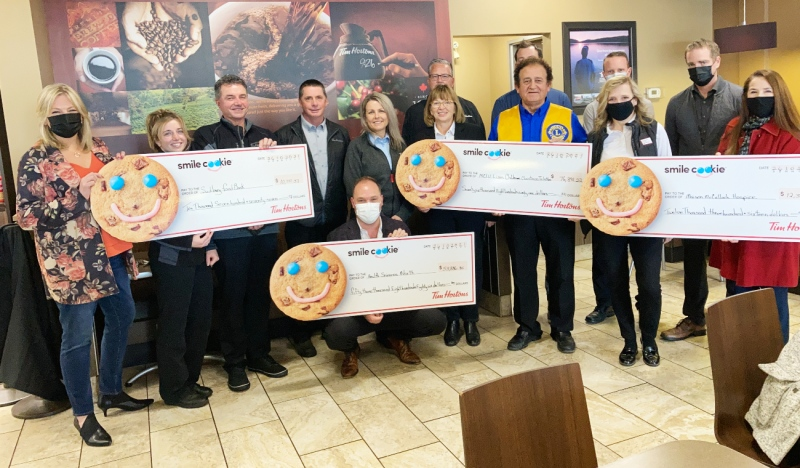 Smiles go a long way, but Tim Hortons franchise owners in the Sudbury area say smile cookies go even further. (Alana Everson/CTV News)