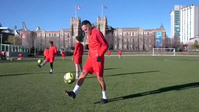 Midfielder Nico Gonzalez is in his third stint as a member of the SAIT men's soccer team.