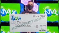 Matthew Poppel says he's going to take some time deciding what to do with the $55 million he won in the Oct. 19 LOTTO MAX draw. (WCLC)