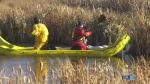 Oil spill in northeast Edmonton