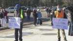 Community protests changes to income assistance