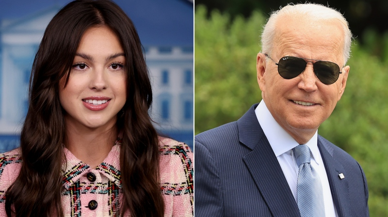 When Olivia Rodrigo visited the White House back in July, she received an unusual assortment of gifts from U.S. President Joe Biden. (Getty)
