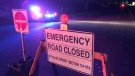 Ontario Provincial Police on scene of a crash on Wellington Road 124 on Wednesday evening. (Dan Lauckner/CTV News)