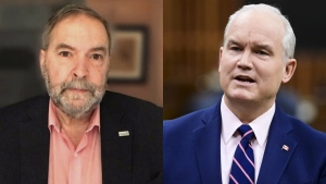 Mulcair: O'Toole 'playing games' with caucus vacci