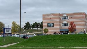 Jacob Hespeler Secondary School is shown on Oct. 28, 2021 (Jessica Smith / CTV Kitchener)