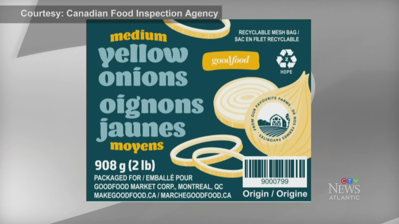 American onion recall expanded to the Maritimes