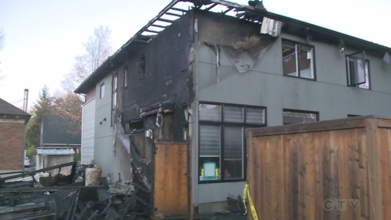 Aftermath of two-alarm fire in Westboro