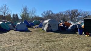 Camp Marjorie is pictured on Oct. 28, 2021. (Gareth Dillistone/CTV News)