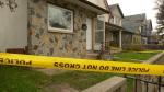 Police tape up at a home on Toronto Street. (Source: Glenn Pismenny/CTV News)