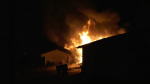 A neighbour was the first to see and report a fire in west Edmonton that destroyed a garage on Oct. 27, 2021, at 164 Street and 105 Avenue.