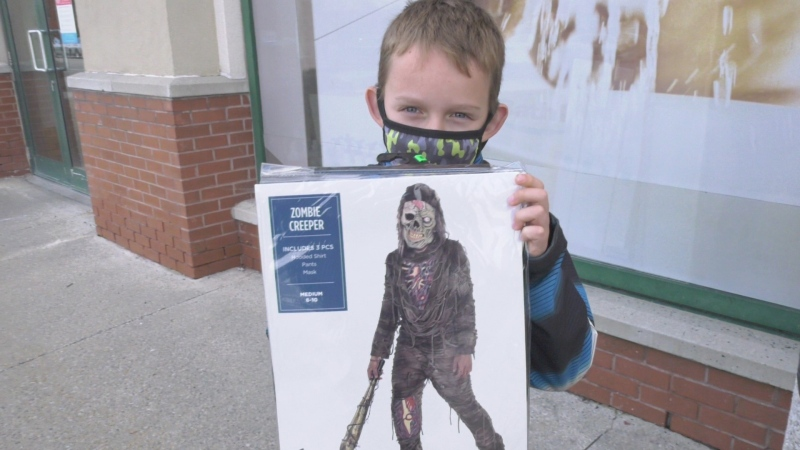 Seven-year-old Martin and his new zombie costume. (Dave Charbonneau/CTV News Ottawa)