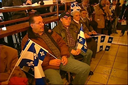 Members of Mouvement Monteregie Francais met in Longueuil on Sunday, Nov. 29, 2009