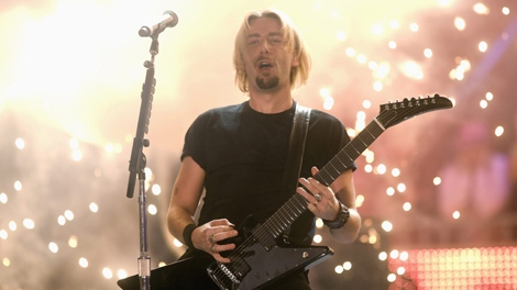 Chad Kroeger performs with Nickelback at the MuchMusic Video Awards in Toronto on Sunday June 21, 2009. (THE CANADIAN PRESS/Nathan Denette)