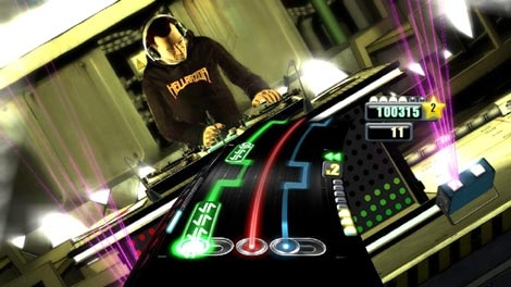 In this video game image an animated version of DJ-Z-Trip is shown in the video game, 'DJ Hero.' (AP / Activision)