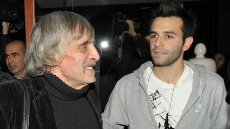 John Kercher, left, and Layle Kercher, father and brother of slain British student Meredith Kercher, arrive in Perugia, Italy, Friday, Dec. 4, 2009. (AP / Stefano Medici)