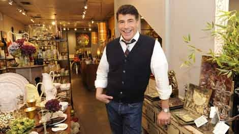 Bryan Batt poses in his specialty store, Hazelnut, in New Orleans on Nov. 2, 2009. (AP / Cheryl Gerber)