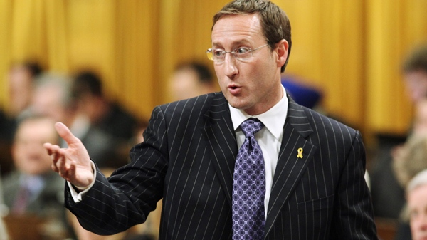 Defence Minister Peter MacKay stands in the House of Commons during question period, in Ottawa, on Tuesday, Dec. 8, 2009. (Fred Chartrand / THE CANADIAN PRESS)