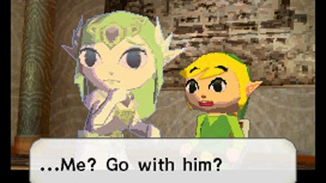 In this video game image released by Nintendo, a scene is shown from 'The Legend of Zelda: Spirit Tracks.' (AP / Nintendo)