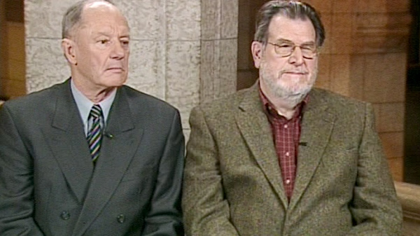 Jacques Roy, a former ambassador to France, and Gar Pardy, former head of Canadian Consular Services, appear on CTV's Power Play with Tom Clark, in Ottawa, on Tuesday, Dec. 8, 2009.