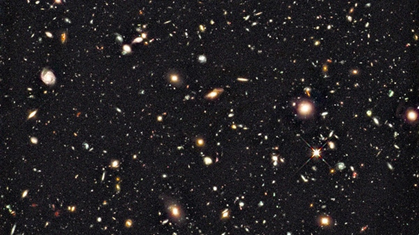 This recent photo provided by NASA and the European Space Agency, and captured by the Hubble Space Telescope, shows the deepest image of the universe ever taken in near-infrared light. (AP Photo / NASA, European Space Agency)