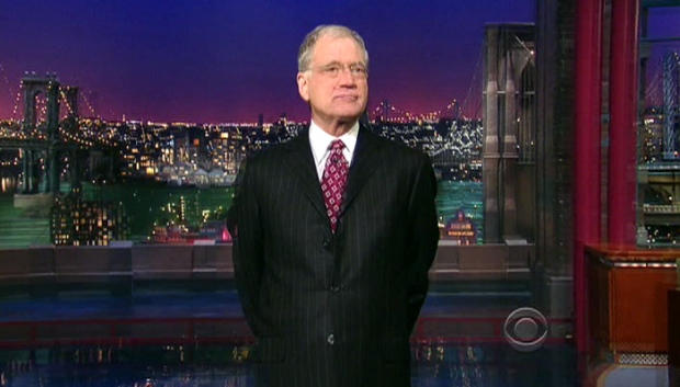 David Letterman jokes about Tiger's troubles on 'The Late Show with David Letterman' on Monday, Dec. 7, 2009.