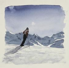 The Tim Gardner piece 'Skier', is seen in this handout photo. (Tim Gardner / 303 Gallery / New York and Modern Art, London)