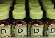 Vitamin D sits on a shelf in a Dartmouth, N.S. drug store in this file photo. (CP / Andrew Vaughan)