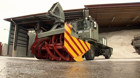An extra-large snow blower formerly at CFB Comox is now part of Vancouver's snow removal arsenal. December 11, 2009.