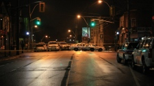 Police rushed to the Dupont Street and Dundas Street West area after reports of a shooting on Dec. 15, 2009.