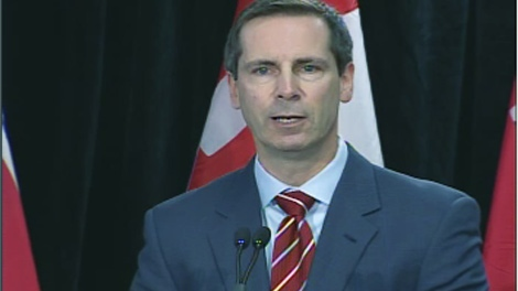 Ontario Premier Dalton McGuinty announces $600 million in funding for Ottawa's transit plan, Friday, Dec. 18, 2009.